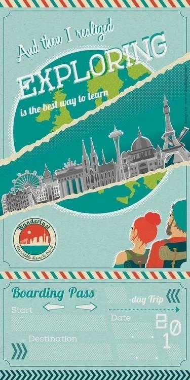 Wanderlust universal ticket - illustration - tiki-1251 | ello