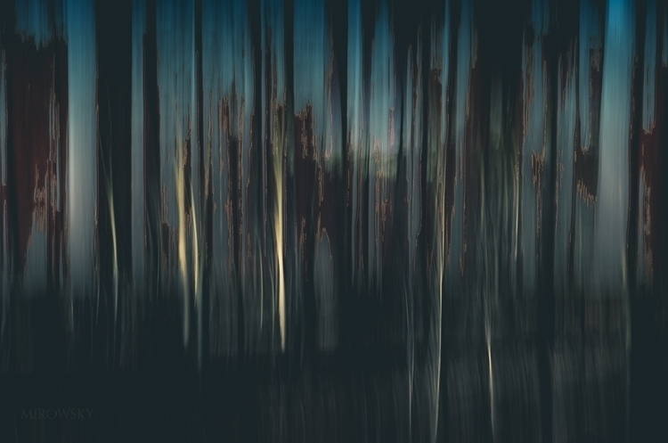Surreal Blue - #blue#vertical#art#tree#forest - mirowsky | ello