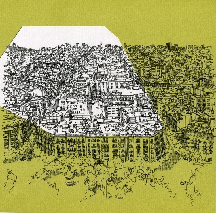 Eixample La Sagrada Familia - illustration - dasha_sava | ello