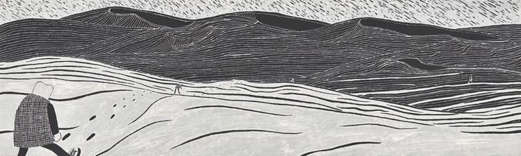 illustration, scraperboard, landscape - marikeleroux | ello