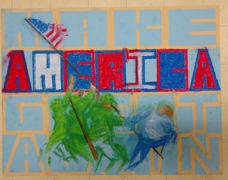America Great - #illustration, #pastels - droberts-1393 | ello