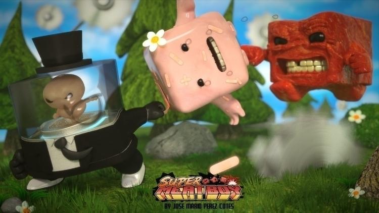 fan art super meat boy blender - jeos10 | ello