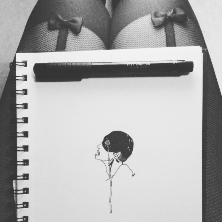 illustration, drawing, blakcandwhite - salutnoe | ello