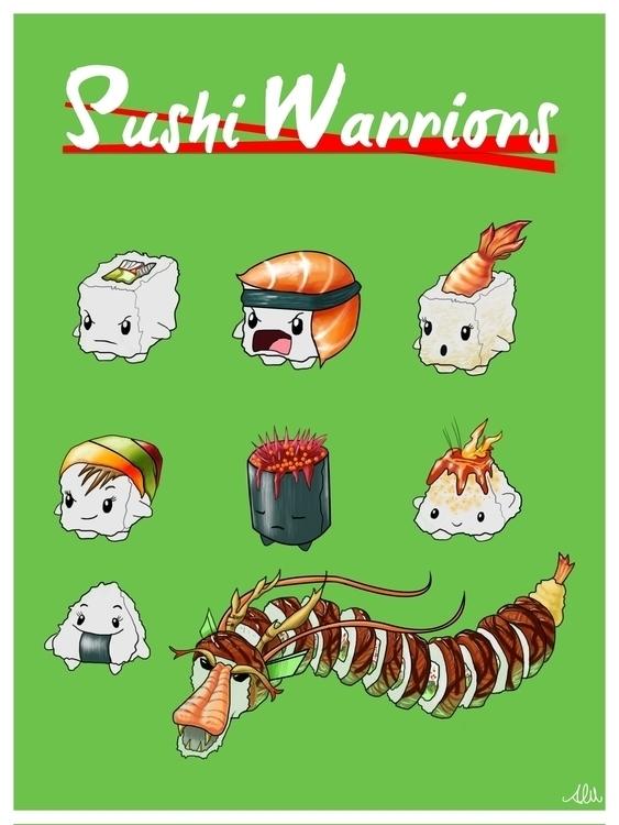Sushi Warriors - alfredmanzano, sushi - alfredmanzanoart | ello