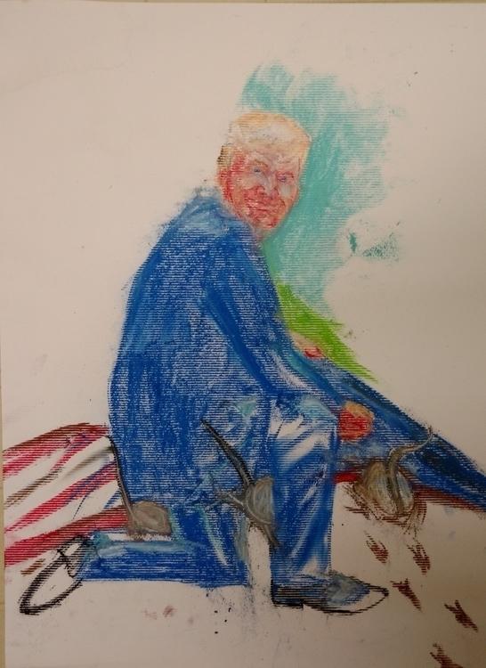Trump - #illustration, #pastels - droberts-1393 | ello