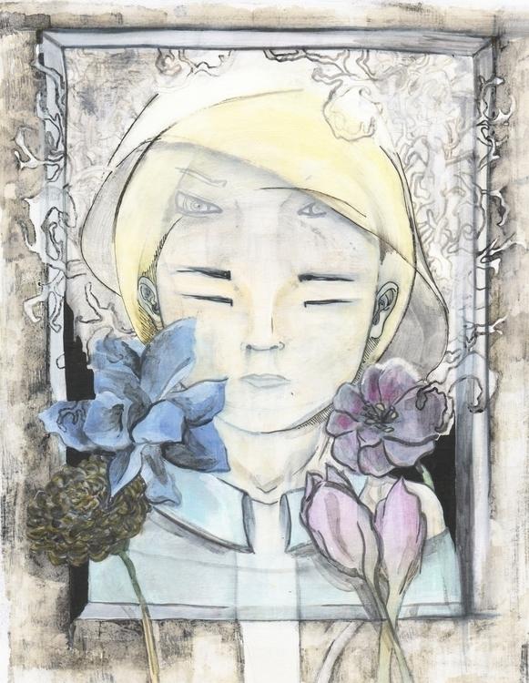 Head - illustration, painting, good - studiomichelmarie | ello