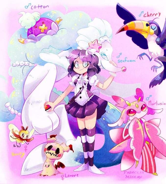 pokemon sun moon team - pokemonfanart - princessmisery   ello