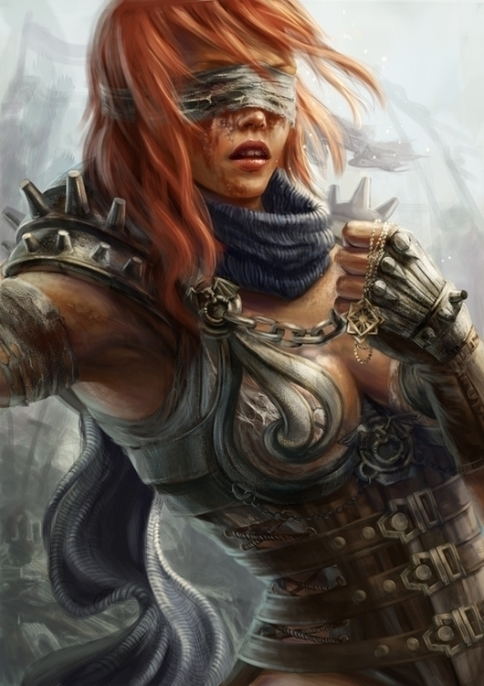 Warrior - illustration, warriorgirls - damroka | ello