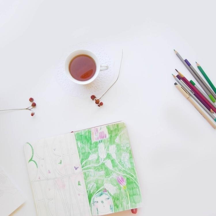 illustration, drawing, sketch - teawithrosejam | ello