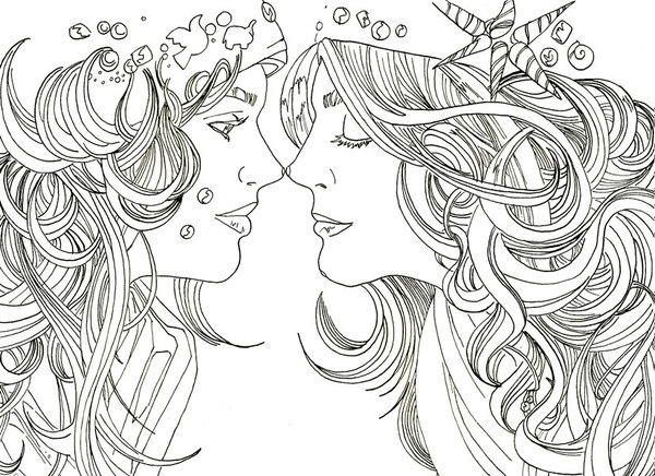 Sisters – ink paper - penink, illustration - randyg-1076 | ello