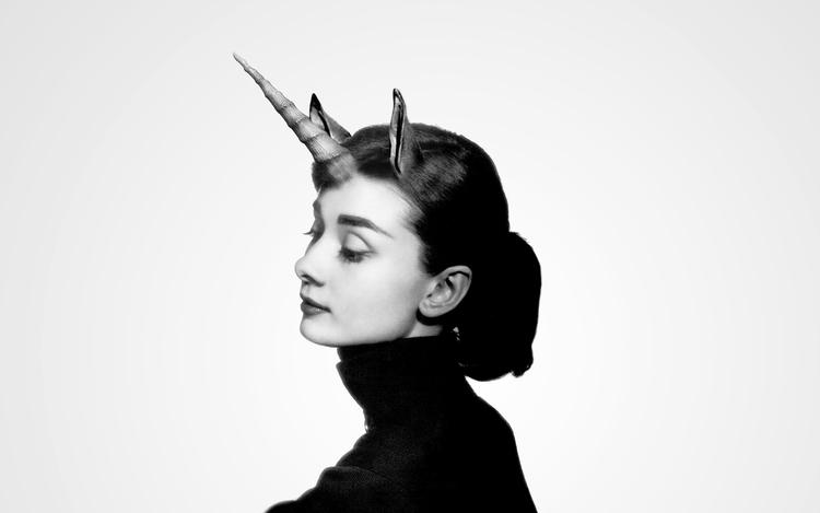 Audrey Hepburn magic Unicorn - gioelechiappani | ello