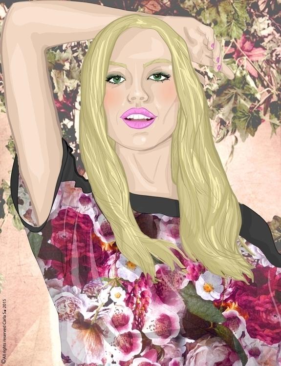floral - illustration, fashionillustration - carla_s   ello