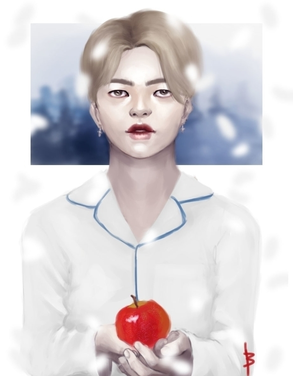 illustration, bangtan, painting - bumblebea-2032 | ello