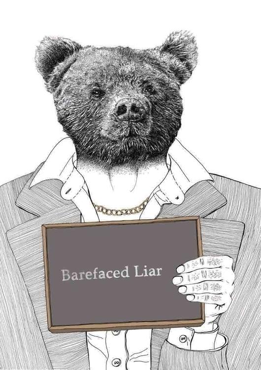 Liar - illustration, portrait, anthropomophic - marikeleroux | ello
