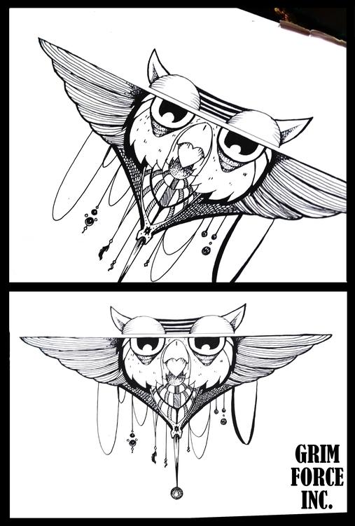 Owl. straight face owl ehhehe d - adamaziz   ello
