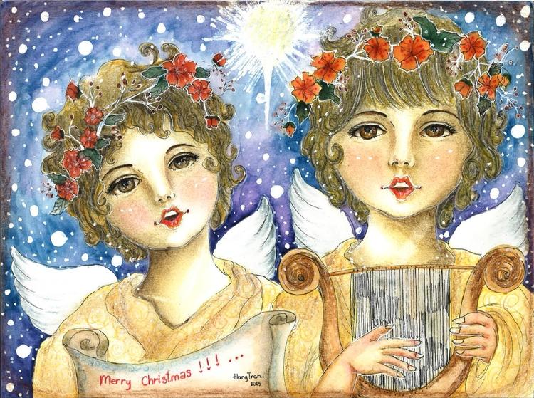 Voice angels - illustration, painting - moonyhang | ello