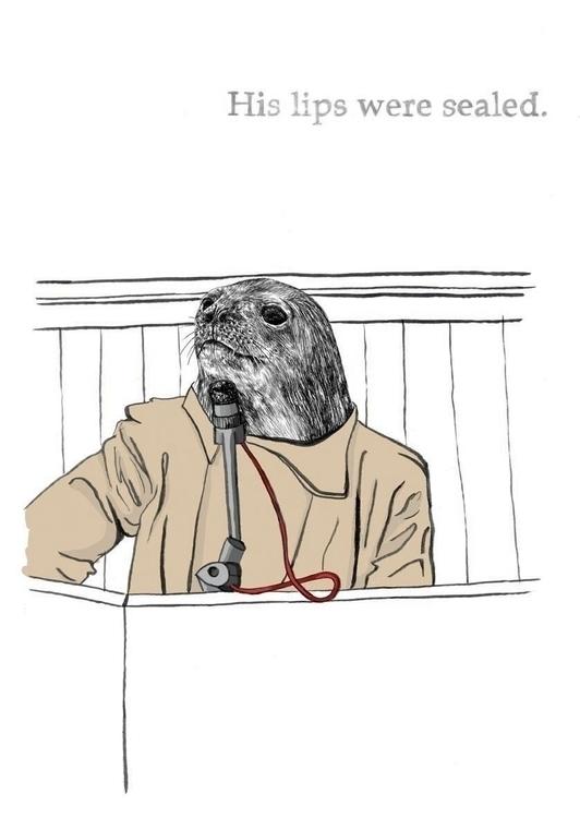 Sealed - illustration, portrait - marikeleroux | ello