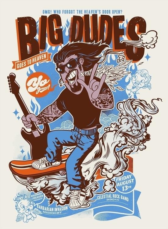 Big Dudes Heaven - design, illustration - rusc | ello