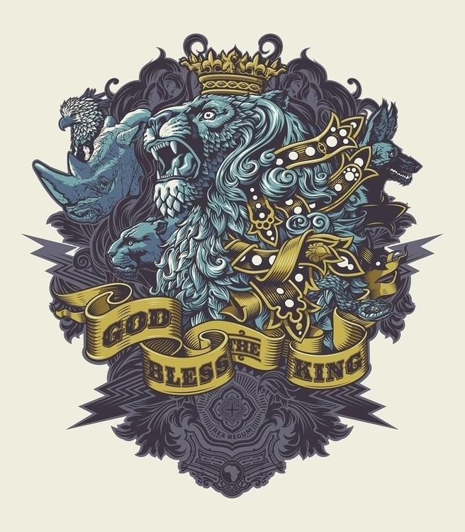 King - design, illustration, lion - rusc | ello