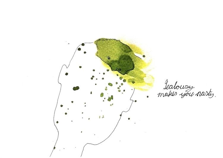 jealousy - penink, markmaking, green - marikeleroux | ello