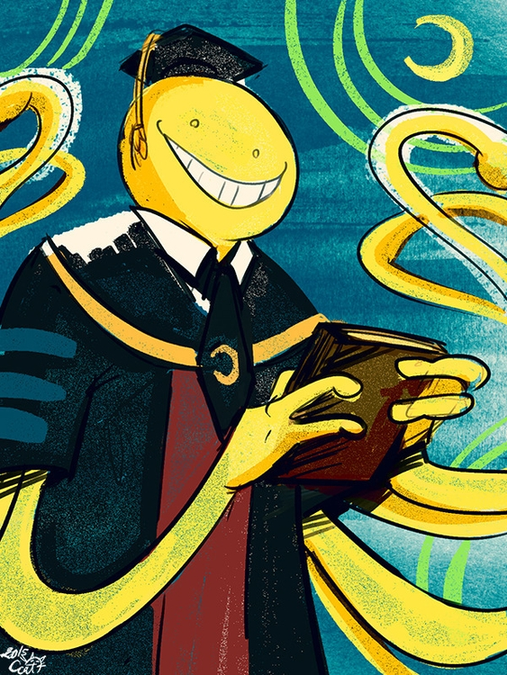 assassinationclassroom, korosensei - curvedcat | ello