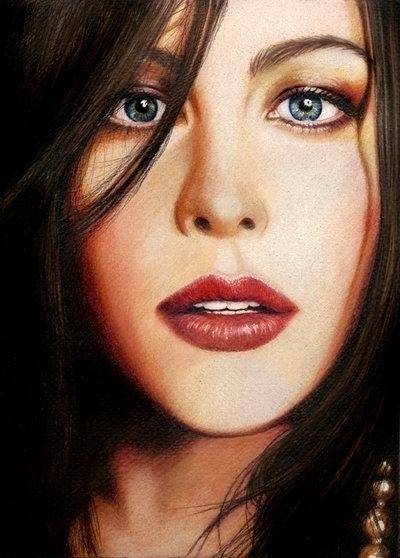 Photorealistic portrait Liv Tyl - vame | ello