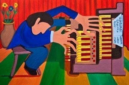 Organist - organplayer, organ, organist - lavott   ello