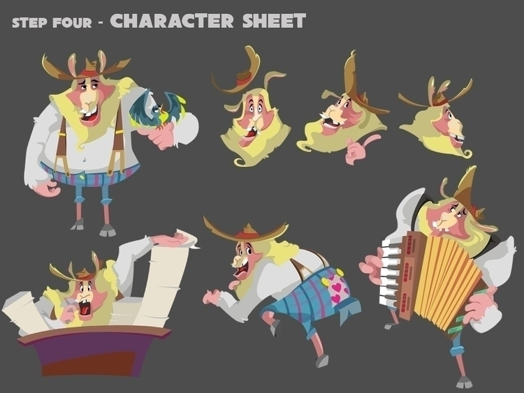 Character sheet - characterdesign - michieolive | ello