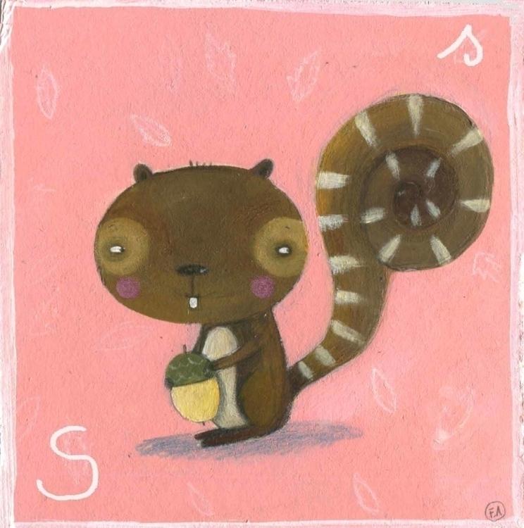 Scuiattola - illustration, squirrel - francescaassirelli | ello
