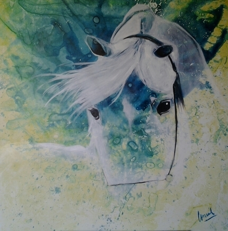 painting, drawing, colors, horses - conniemullerarte | ello