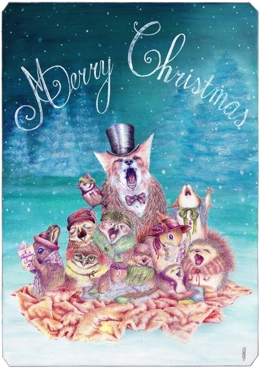 Christmas Card 2014 - illustration - henrieke-4064 | ello