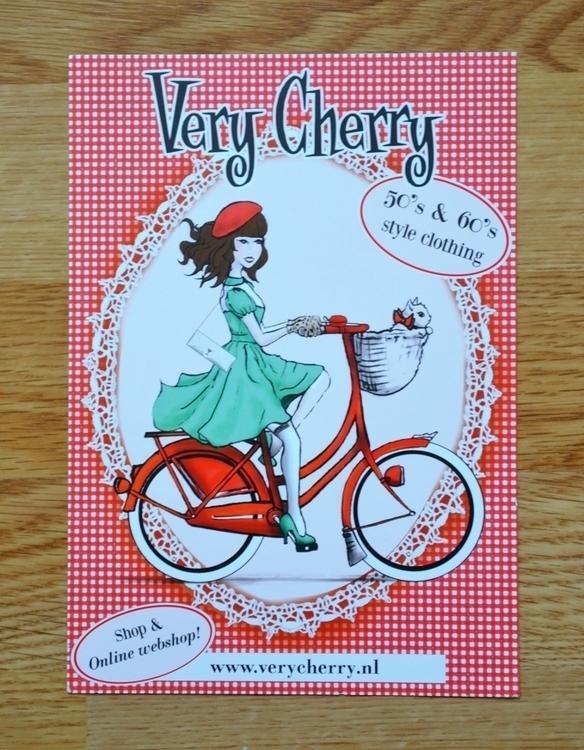 Cherry flyer - characterdesign, illustration - henrieke-4064 | ello