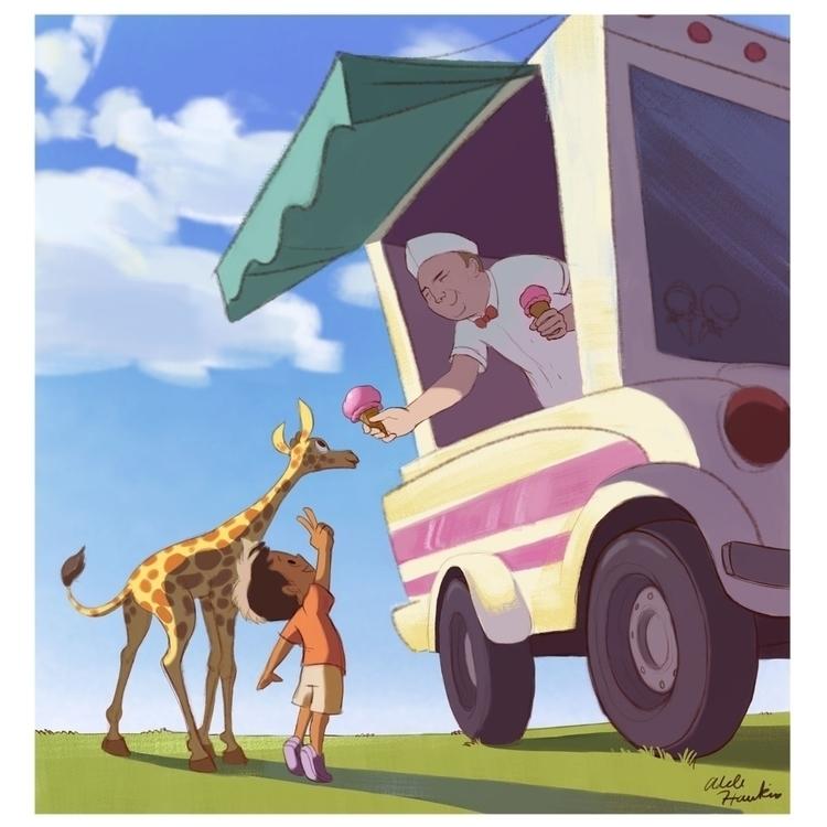 illustration, digitalart, animals - adelehawkins | ello