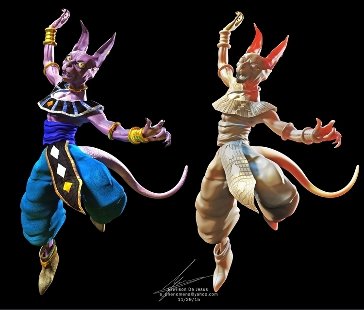 3D Fan art Beerus god Destructi - erwilsondj | ello