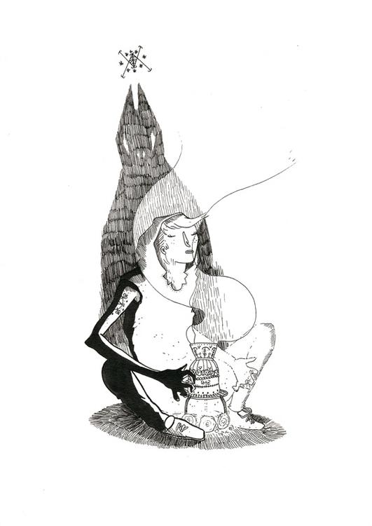 inktober Ink paper - ink, illustration - sarahm-4841 | ello