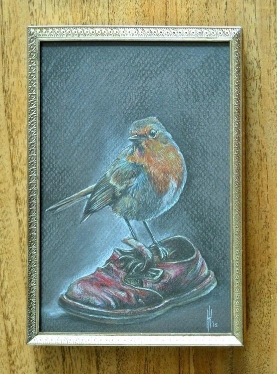 Vintage Robin robin watching mo - henrieke-4064 | ello