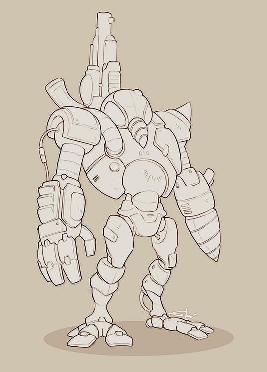 Robot-Mole - mole, robot, sketch - sarcix | ello
