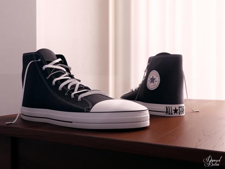 Allstar shoes - 3d, 3dmax, vray - dawood-3963   ello