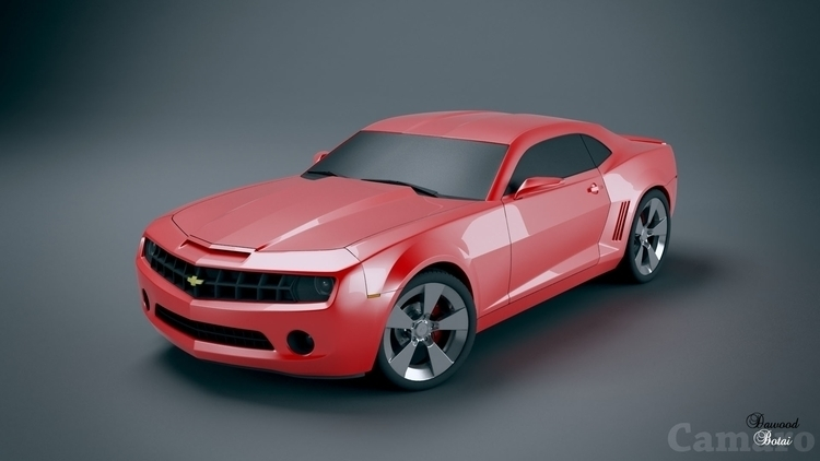 Camaro - 3d, 3dmax, car, vray, photoshop - dawood-3963 | ello