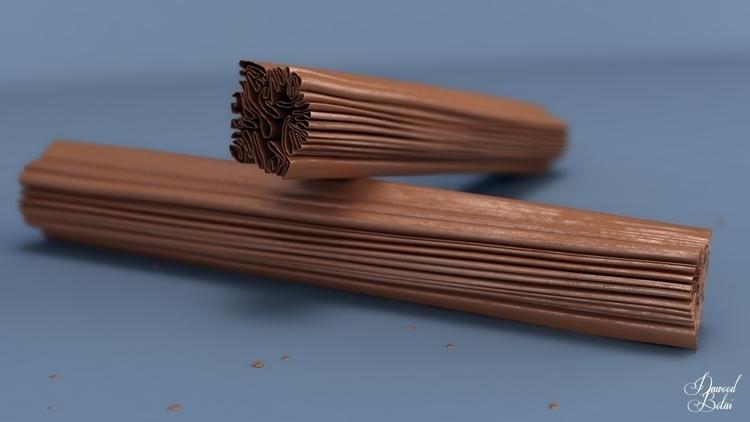 Flake Chocolate - 3d, 3dmax, vray - dawood-3963 | ello