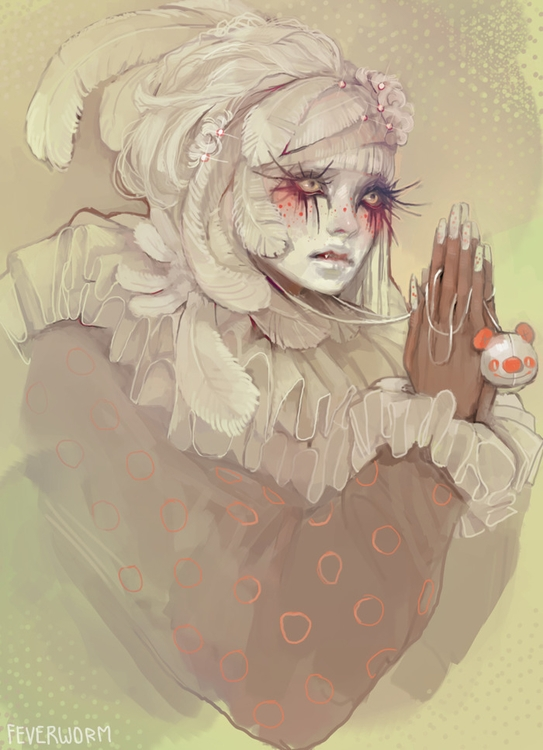 shiro - shironuri, clown, circus - feverworm | ello