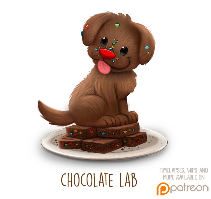 Daily Paint 1510. Chocolate Lab - piperthibodeau | ello