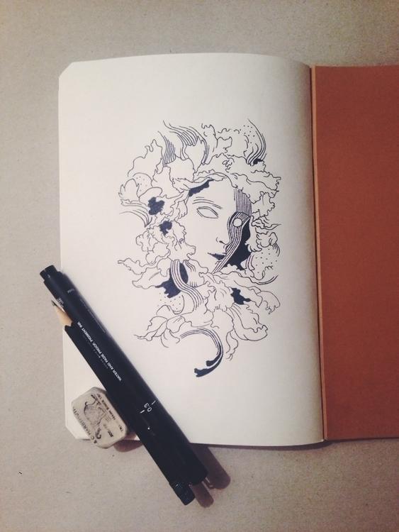 illustration, penink, pencil - alinav-3329 | ello