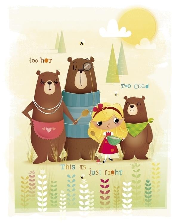 Goldilocks - illustration, characterdesign - irenegough | ello