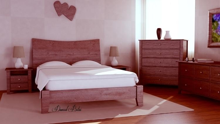 Bedroom - 3d, 3dmax, vray, photoshop - dawood-3963 | ello