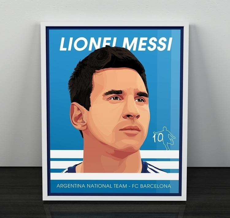 Lionel Messi - digitalart, illustration - alainldesign | ello