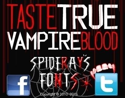 time tasteTRUEVAMPIREblood, fan - spideraysfonts-1396 | ello