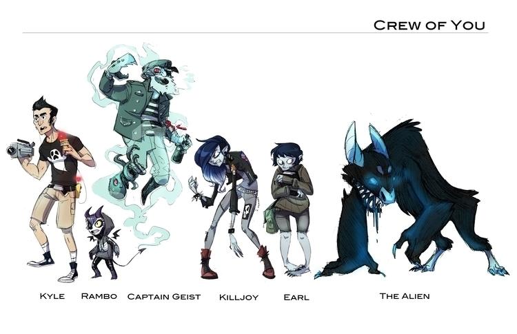 Character line class project - dinolich | ello