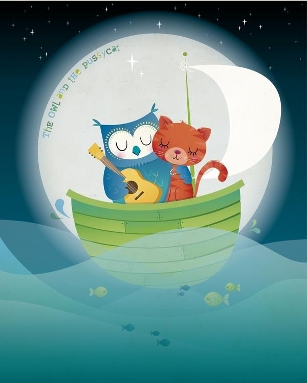 Owl Pussycat - illustration, characterdesign - irenegough   ello