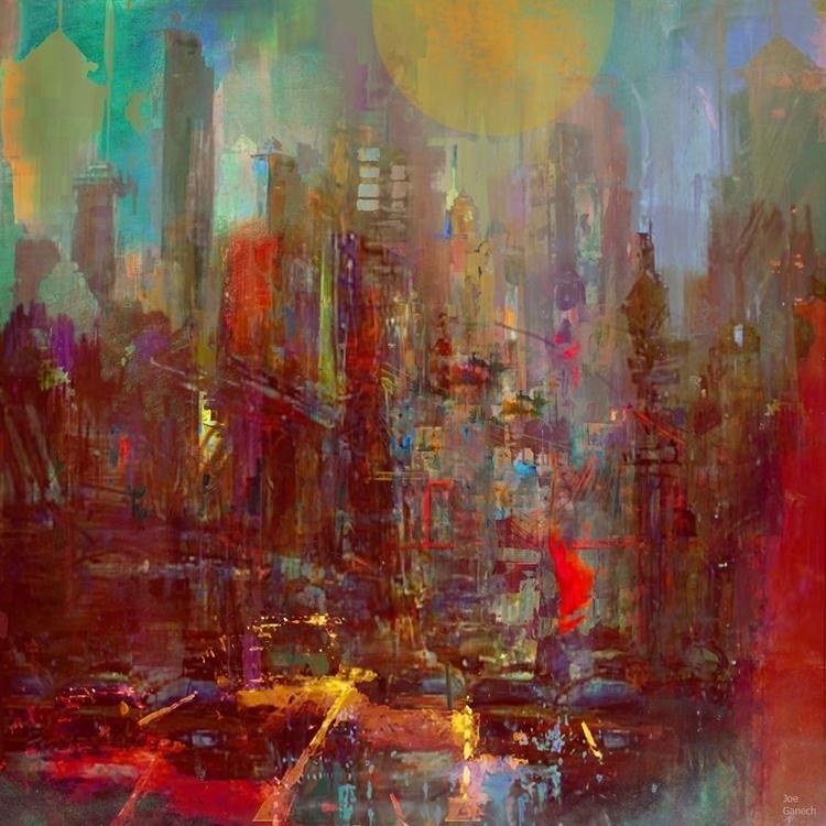 Abstract city - cityscape, abstract - ganechjoe | ello